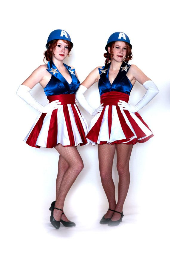 @Lainee Frei Norton so the cut of this dress is weird, but the blue top with the red and white striped skirt could work