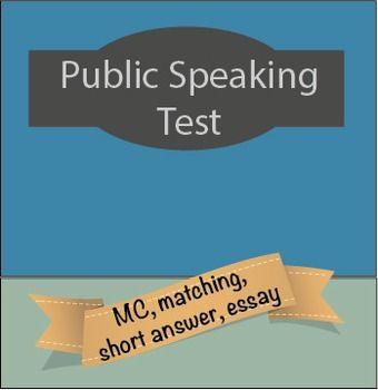 Public speaking evaluation essay