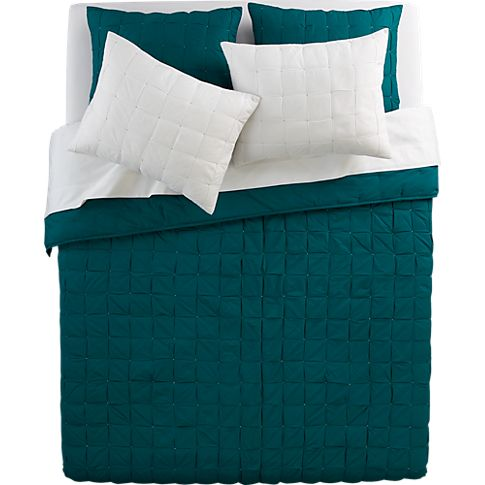 mahalo blue-green bed linens in bed linens | CB2