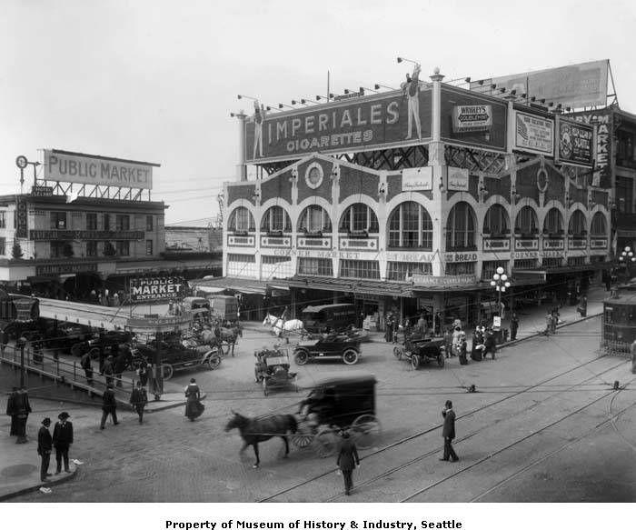 Pike Place Market Seattle 1915