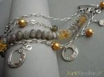 Silver bracelet.