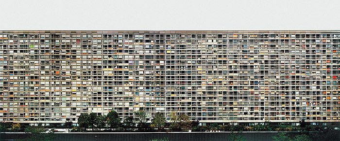 """Andreas Gursky. Chromogenic color print.   6' 8 3/4"""" x 13' 1 1/4"""" (205 x 421 cm).  Lent by the artist, courtesy Matthew Marks Gallery, New York,  and Monika Sprüth Galerie, Cologne  © 2001 Andreas Gursky."""