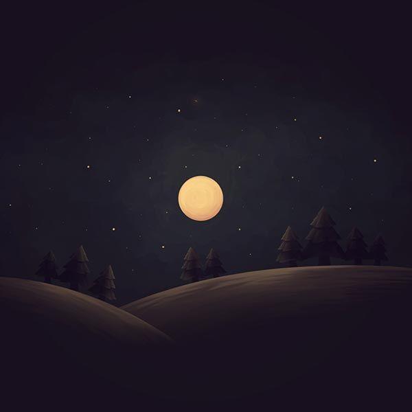 Full Moon Fhd Wallpaper Engine Landscape Wallpaper Full Moon Landscape