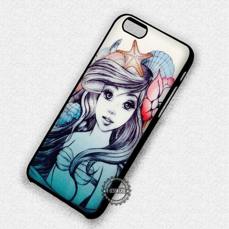 Ariel The Little Mermaid Drawing Disney Princess - iPhone 7 6 Plus Cases & Covers