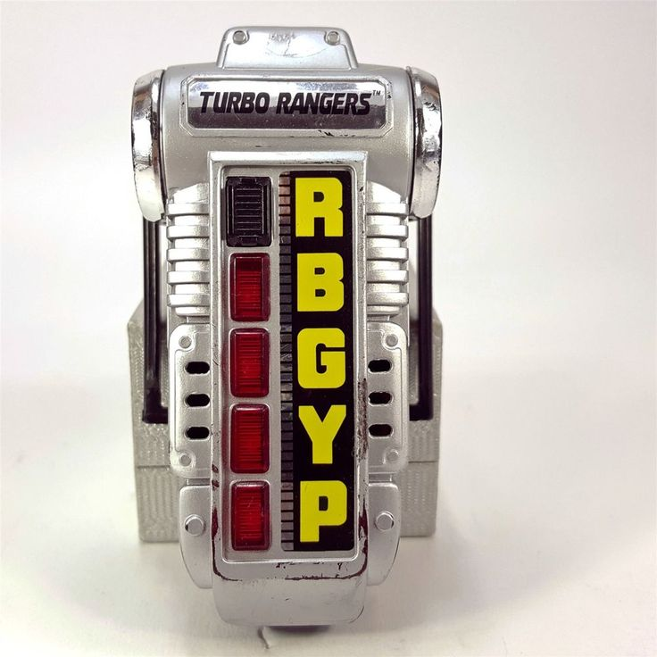 Power Rangers Turbo Morpher Light Up w/ Sound Toy RBGYP 1997 Bandai MMPR