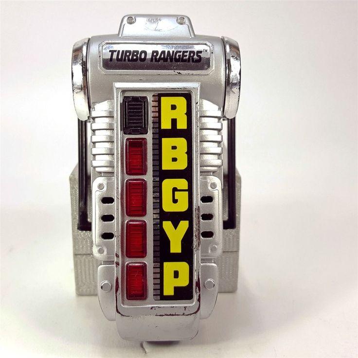 Power Rangers Turbo Morpher Light Up w/ Sound Toy RBGYP 1997 Bandai MMPR