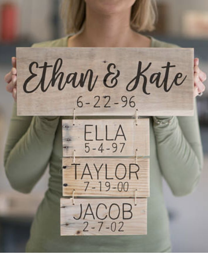 Anniversary Gift | Family Names Wood Sign | Personalized Family Name Signs | Fathers Day Gift | Family Established Sign, family decor, home decor, rustic decor, wall art, wooden personalized decor #ad #affiliatelink