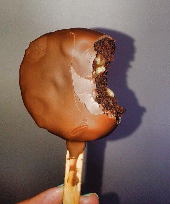 paletas de brownie brownie paletas  dulces