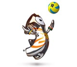 Volleyball mascot for London 2012 Olympics
