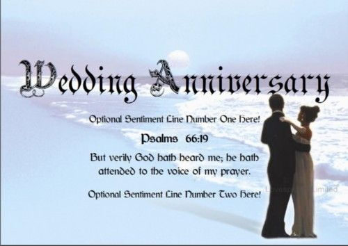 Marriage Anniversary Scriptures