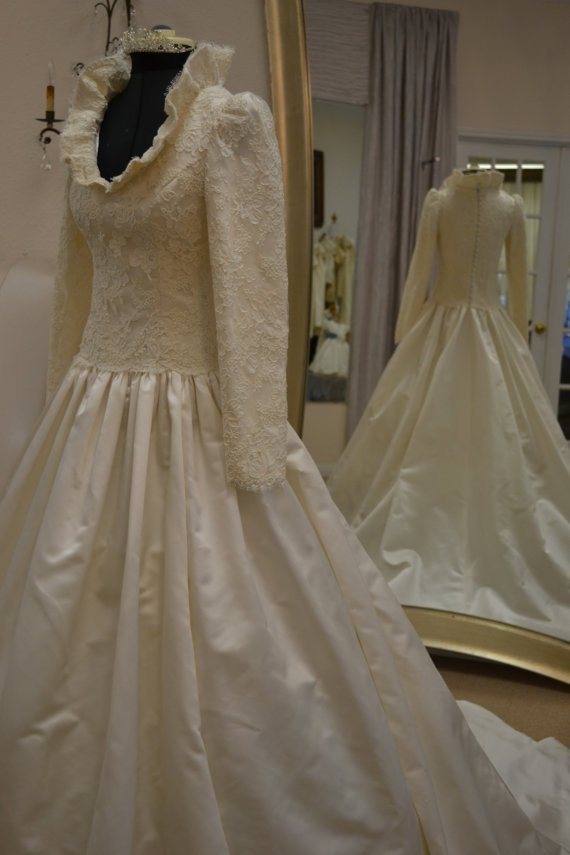 Couture Wedding Gown in Ivory by CouturesbyLaura on Etsy, $1600.00