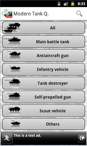 """Modern Tank Quiz es una app tipo quiz o trivial sobre el mundo de los tanques para smartphones y tablets.<p>En Modern Tank Quiz encontrará más de 220 tanques famosos y vehículos militares modernos.<p>Diviertase jugando en tres tipos de juegos incrementando la velocidad.<p>Además, Modern Tank Quiz dispone de la """"Tankpedia"""" donde puede encontrar una ficha e imagen a pantalla completa del tanque seleccionado y enlace directo a Wikipedia.<p>Si te gusta Word Of Tanks, te gustará Modern Tank Quiz…"""