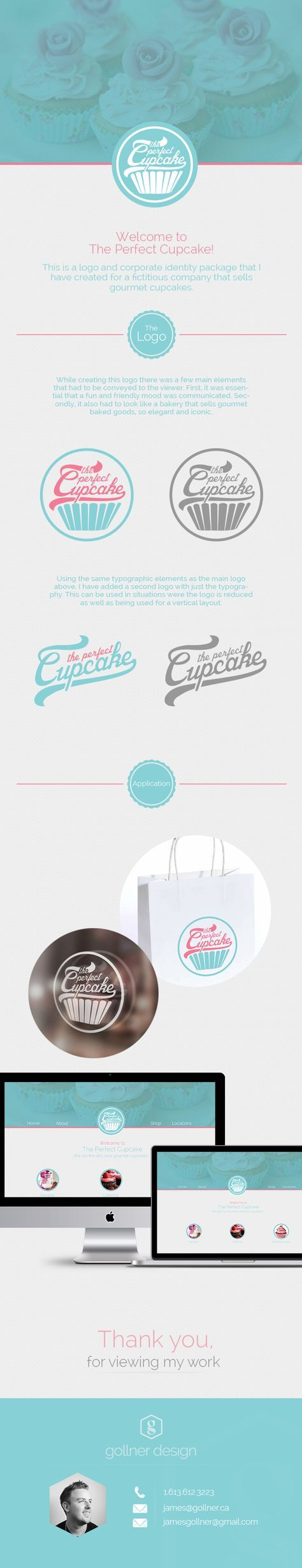 The Perfect Cupcake | Logo & Corporate Identity by James Gollner, via Behance