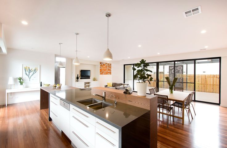 Glebe Display Home by Classic Constructions at Googong, NSW. Features Acton Undermount Double Bowl Sink and Grohe Europlus Kitchen Mixer. For more inspired ideas visit southerninnovations.com.au