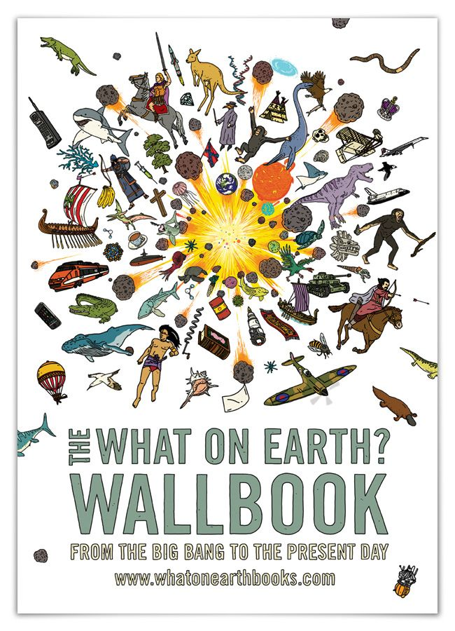 The What on Earth? Wallbook is a comprehensive, visual voyage through the past that contains more than 1,000 hand-drawn illustrations, every major event in natural and human history, the rise and fall of civilizations, the top 100 battles and, on the reverse, the story of planet, life and people from the Big Bang to the present day.