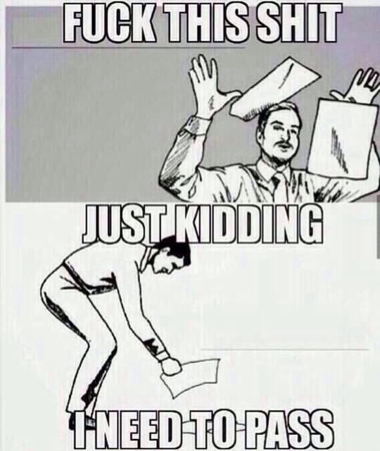 This is how I feel all throughout the quarter!!  HAHAHA!! How I imagine college students during finals - Imgur
