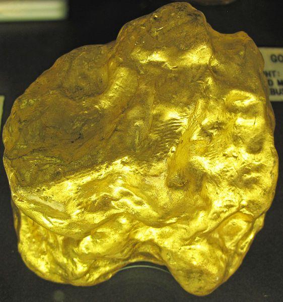Gold nugget (found 28 December 1877) (Victoria, Australia) 75 ounces
