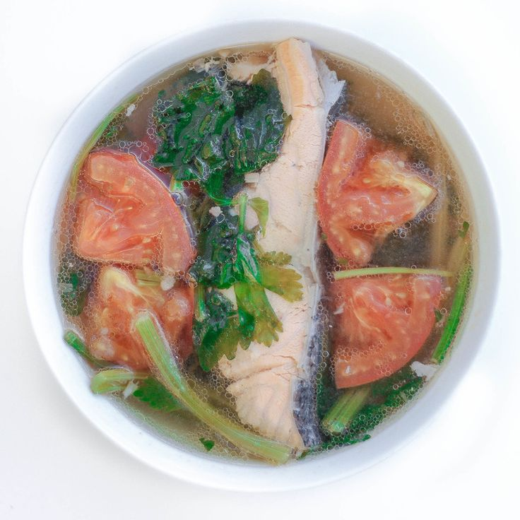 Vietnamese Fish Soup with Chinese Celery and Tomatoes (Canh Ca Nau Ngot)