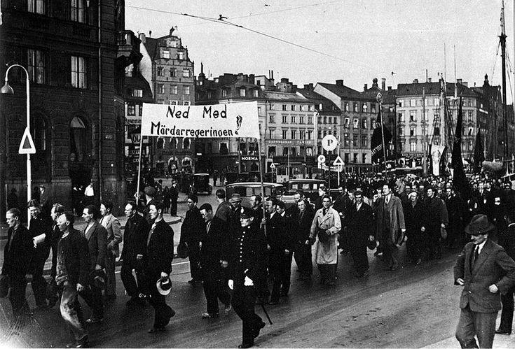 Ådalen demo Stockholm