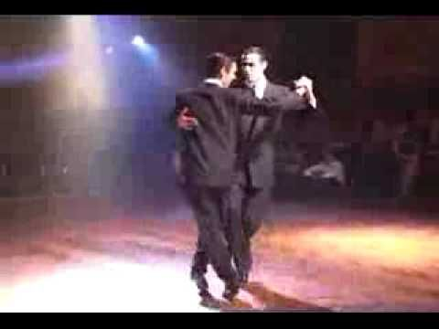 """Los Hermanos Macana (""""The Witty Brothers""""). Argentine Tango was originally danced with either prostitutes or other men."""