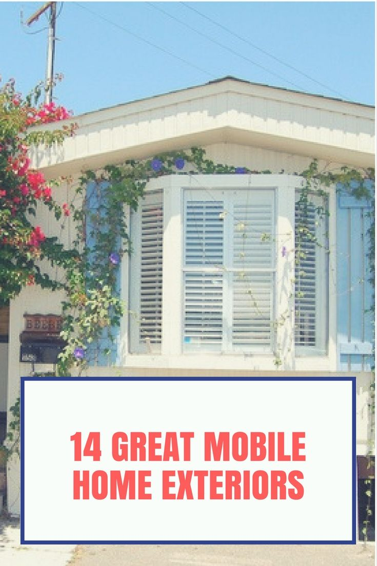 14 Great Mobile Home Exterior Makeover Ideas For Every Budget in