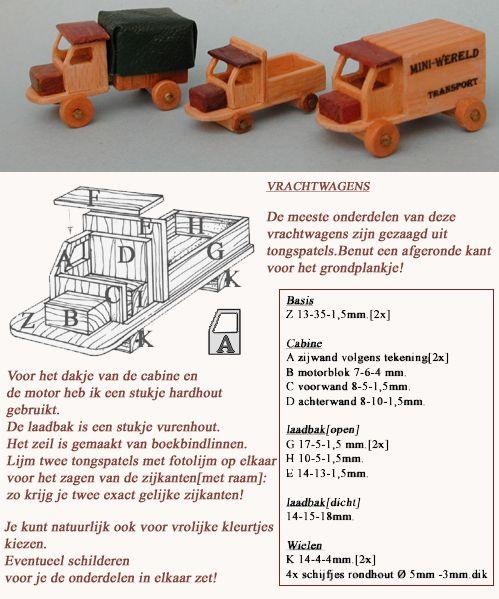 MINIDESIGN: Wood trucks
