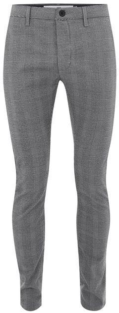 Topman Gray Check Stretch Skinny Pants