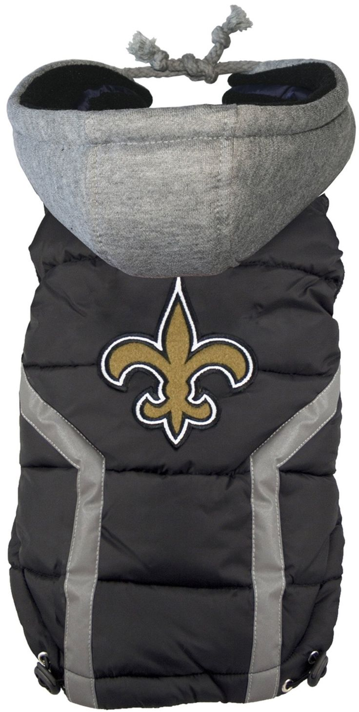 New Orleans Saints Nfl Dog Jacket Puffer Vest In Color