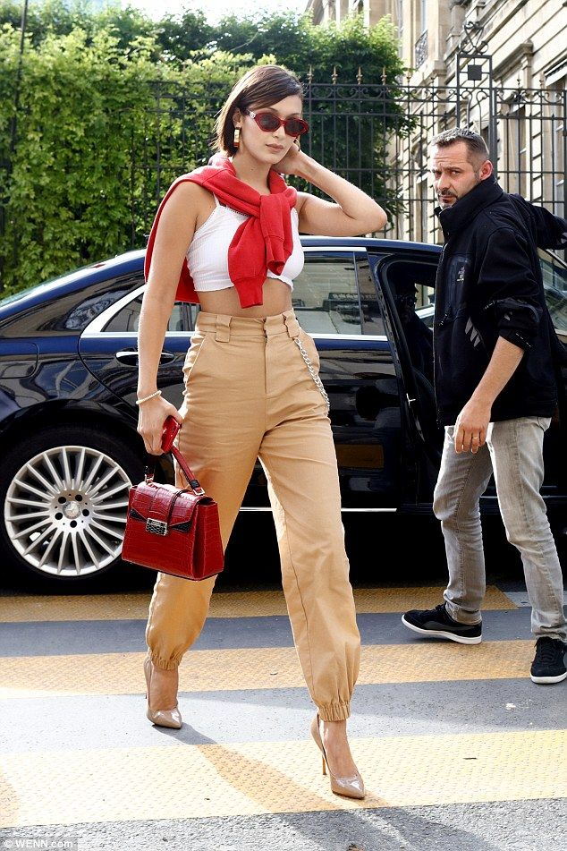 Super chic: While Kendall sported a casual look, Bella was the picture of elegance ...