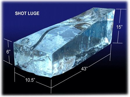 how to make a clear ice luge
