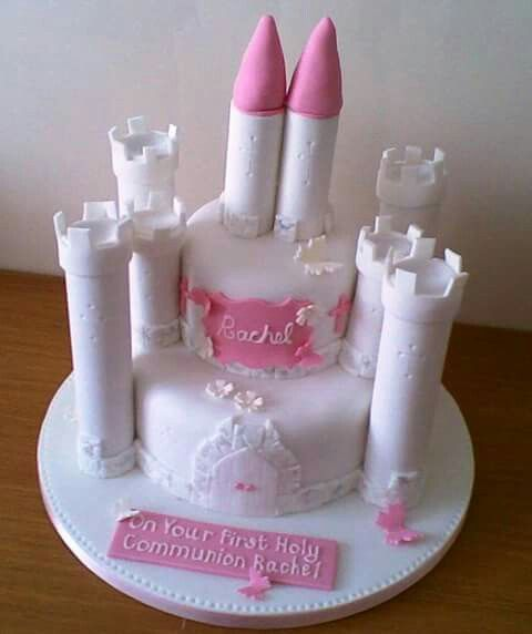Communion Castle Cake