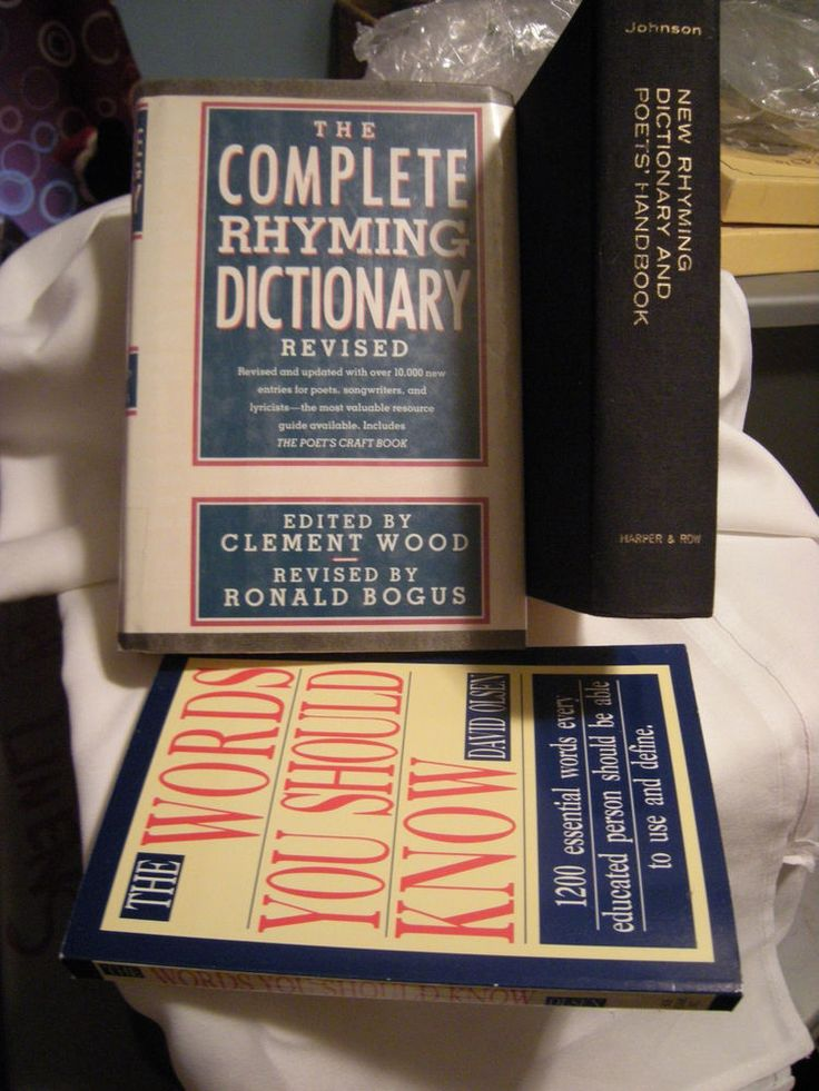 LOT: The New & Complete Rhyming Dictionaries,The Words You Should Know Poet Rap