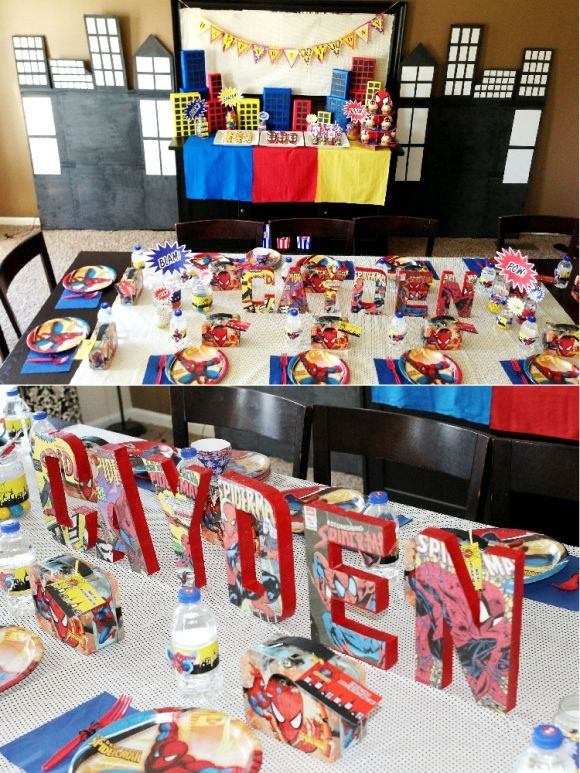Cool Customers: Spider Man Inspired Birthday Party by Bird's Party
