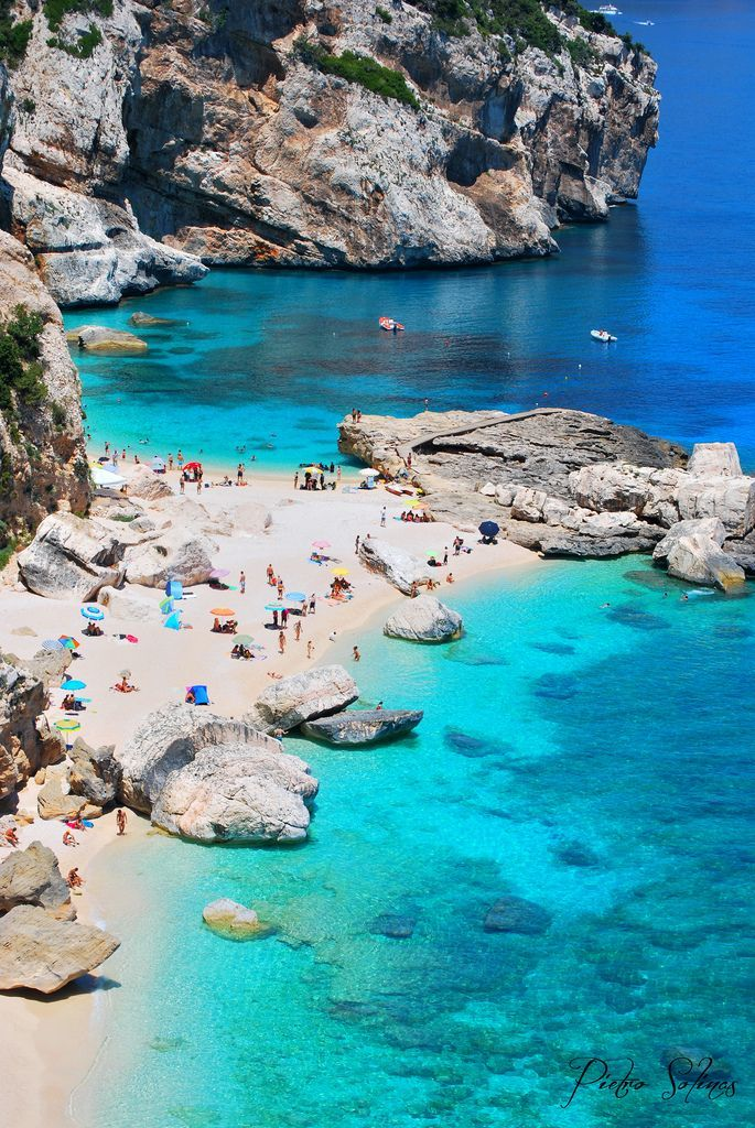 The beach of Cala Mariolu is located along the middle eastern coast of Sardinia, in the province of Nuoro.