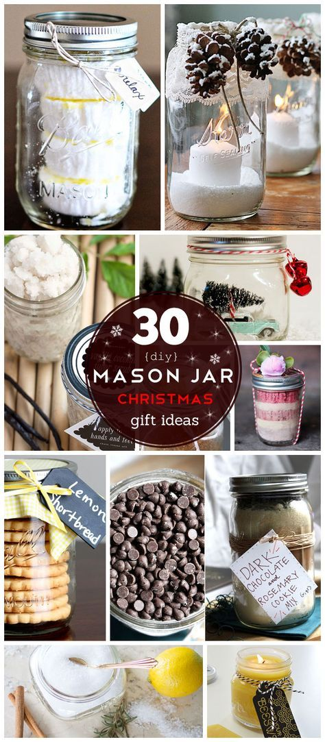30 DIY Mason Jar Christmas Gifts Ideas