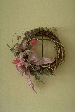 Easter Wreath With The Cross