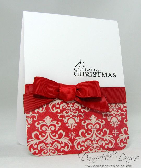 Danielle Daws: Another CAS Christmas Card - love this! would be great with kraft