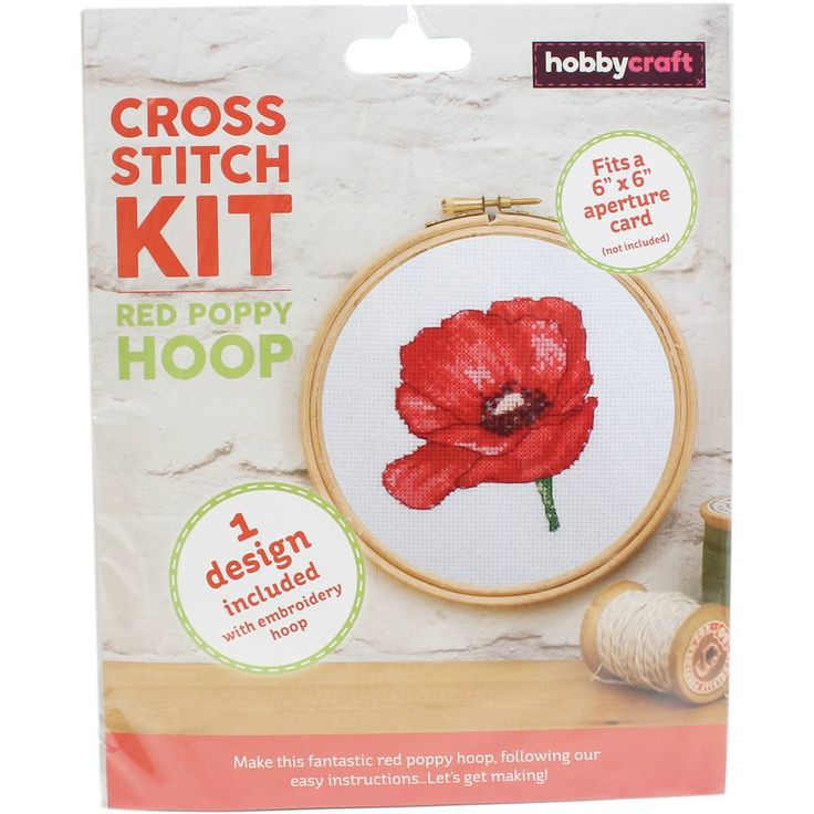 Poppy Cross Stitch Hoop Kit | Hobbycraft