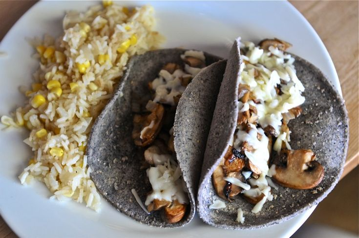 CHANTERELLE TACOS | Rice Pilaf with Corn