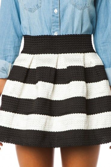 Love this striped skirt