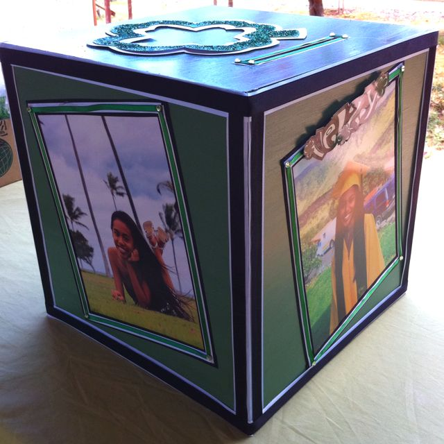 Graduation money box grad party ideas pinterest for Homemade money box ideas