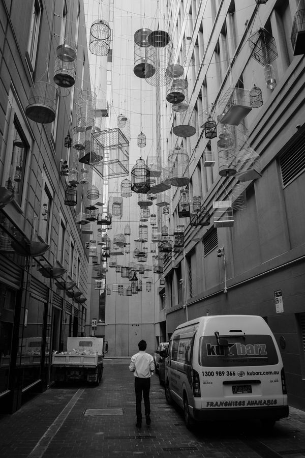 Step into a certain alleyway in Sydney's Angel Place and you'll find a whimsical installation that's meant to be both seen and heard. Back in 2009, artist Michael Thomas Hill created Forgotten Songs,