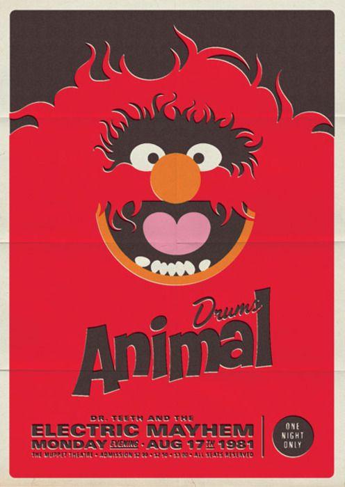 Michael De Pippo: Retro Muppet Concert Posters
