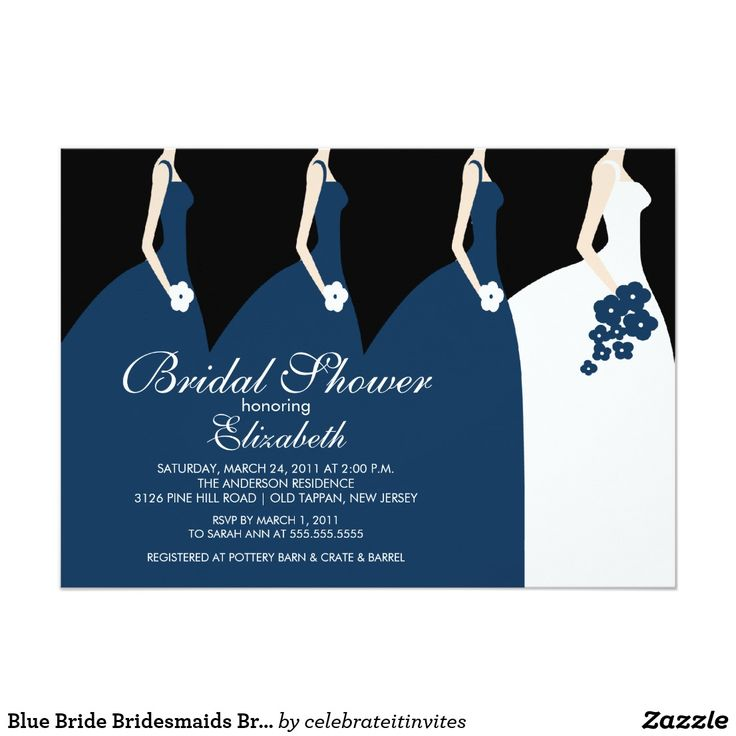 zazzle wedding invitations promo code%0A Blue Bride Bridesmaids Bridal Shower Invitation in each seller  u     make  purchase online for cheap  Choose the best price and best promotion as you  thing