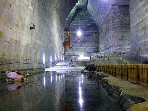 Slanic Prahova salt mine in Romania