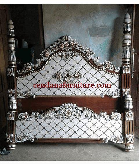 Tempat Tidur Minimalis Modern Ukir Mawar