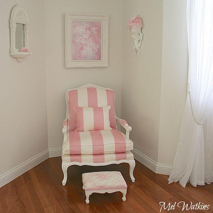 High Quality My Pink U0026 White Stripe Chair :)