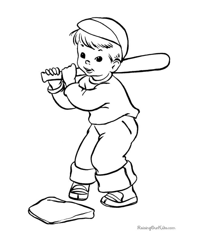 These Free Printable Summer Baseball Coloring Pages Provide Hours Of Online And At Home Fun For KidsJust A Few The Many Sheets Pictures In