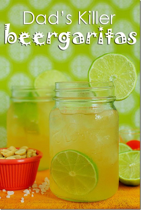 Dads Killer Beergaritas. Light beer mixed with tequila, then lightly sweetened with lime. The ultimate refreshing summer drink!