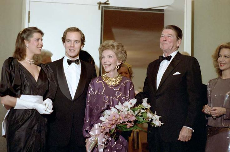 Belgian Royal Family Jewels | File:The Reagans with the Hereditary Prince and Princess Caroline of ...